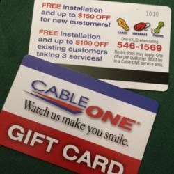 """CableOne """"Gift Card"""""""